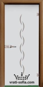 Стъклена интериорна врата, Sand G 13-1