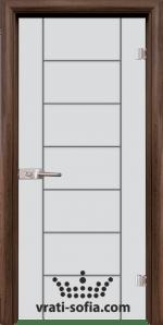 Стъклена интериорна врата, Sand G 13-6