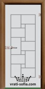 Стъклена интериорна врата, Sand G 13-7