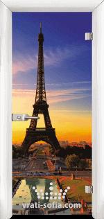 Стъклена интериорна врата, Print G 13-12