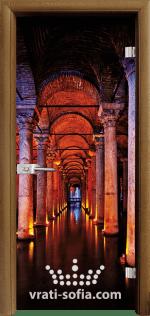 Стъклена интериорна врата, Print G 13-13