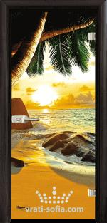 Стъклена интериорна врата, Print G 13-14