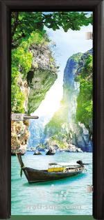 Стъклена интериорна врата, Print G 13-15