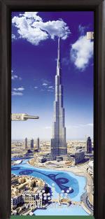 Стъклена интериорна врата, Print G 13-16