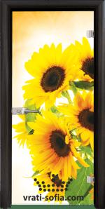Стъклена интериорна врата, Print G 13-4