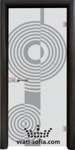 Стъклена интериорна врата, Sand G 14-6