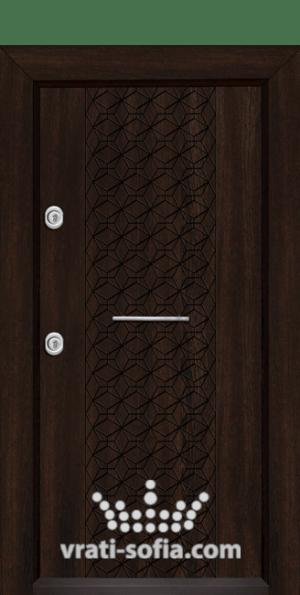 Блиндирана врата Т-1001, цвят Венге