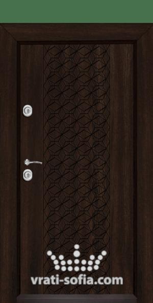 Входна блиндирана врата Т-1001, цвят Венге
