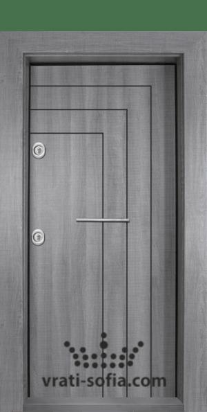 Блиндирана врата Т-1002, цвят Сив дъб