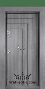 Блиндирана входна врата Т-1002, цвят Сив дъб
