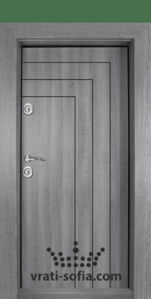 Входна блиндирана врата Т-1002, цвят Сив дъб