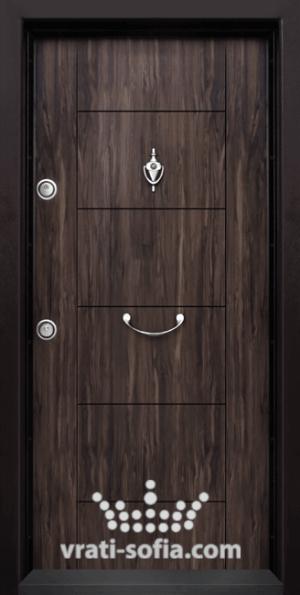 Входна блиндирана врата Т102, цвят Африка