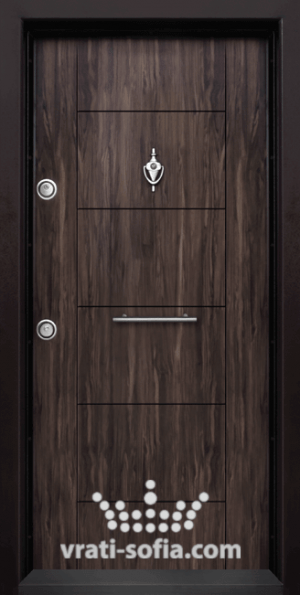 Блиндирана врата Т102, цвят Африка