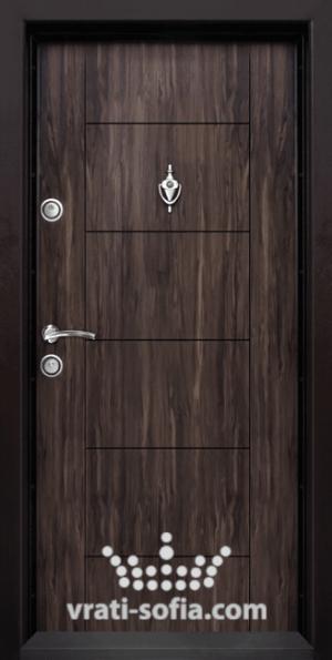 Блиндирана входна врата Т102, цвят Африка