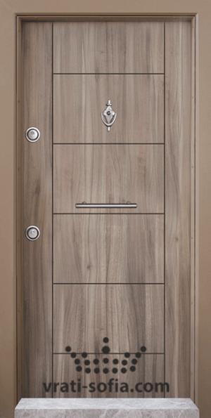Блиндирана входна врата Т102, цвят Спарта