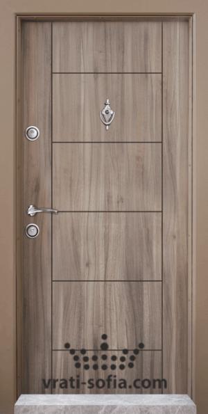 Блиндирана врата Т102, цвят Спарта