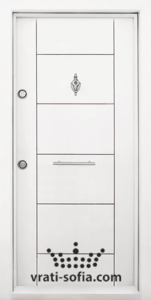 Блиндирана врата Т102, цвят Бял