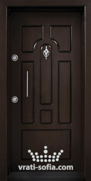 Блиндирана врата Т108, цвят Тъмен Орех