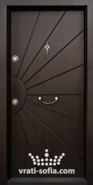 Блиндирана входна врата Т109, цвят Тъмен Орех