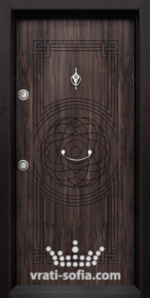 Входна блиндирана врата Т110, цвят Африка