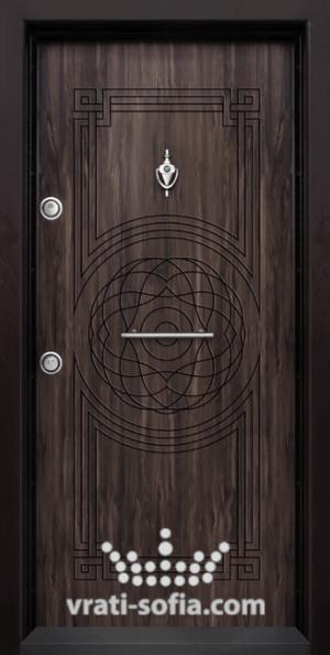 Блиндирана врата Т110, цвят Африка
