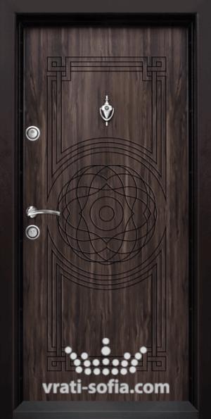 Блиндирана входна врата Т110, цвят Африка