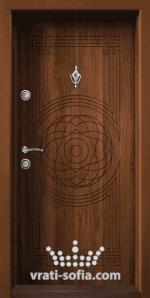 Входна врата Т110, цвят Златен дъб