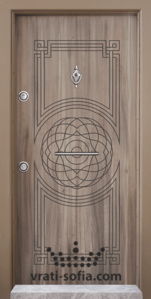 Входна блиндирана врата Т110, цвят Спарта