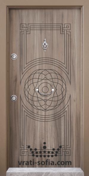 Блиндирана врата Т110, цвят Спарта