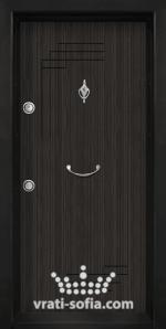 Блиндирана входна врата Т111, цвят Черна перла