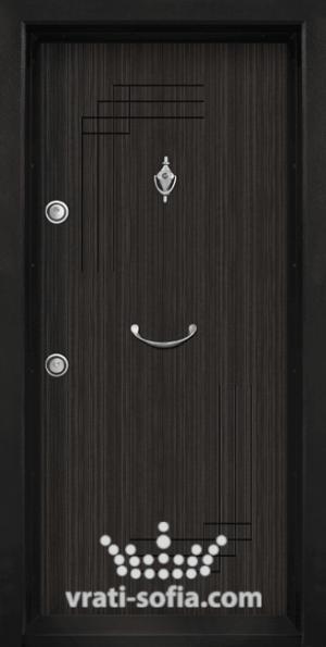 Блиндирана врата T 111, цвят Черна Перла