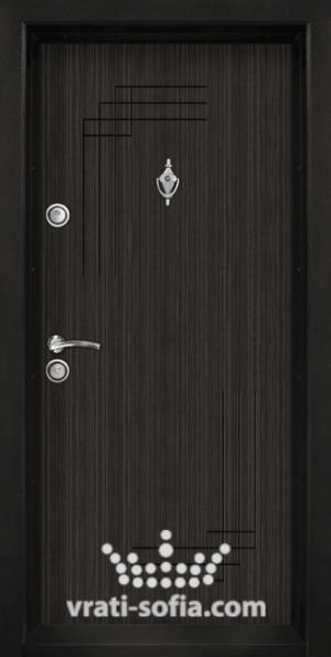 Входна блиндирана врата T 111, цвят Черна Перла