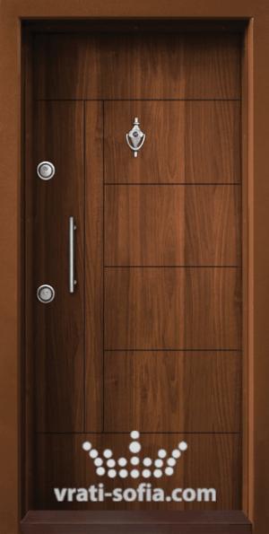 Входна врата T 587, цвят Златен дъб
