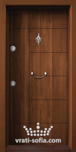 Блиндирана врата T 587, цвят Златен дъб