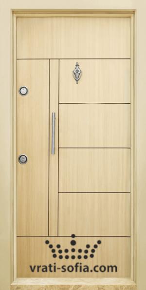 Блиндирана входна врата T 587, цвят Зебра