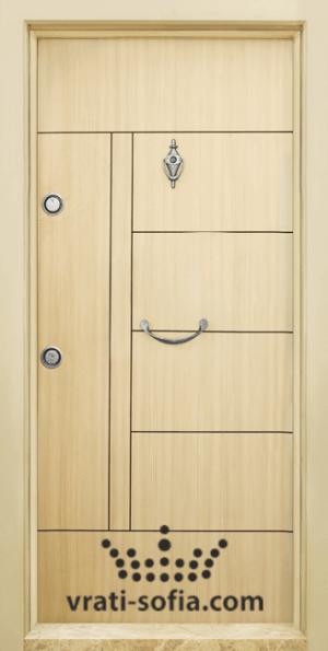 Блиндирана врата T 587, цвят Зебра