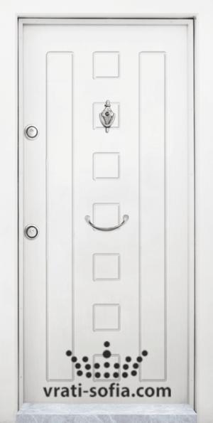 Входна блиндирана врата T 712, цвят Бял