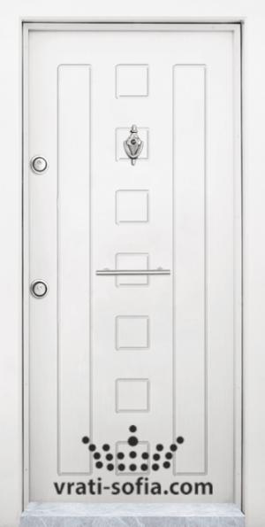Блиндирана входна врата T 712, цвят Бял