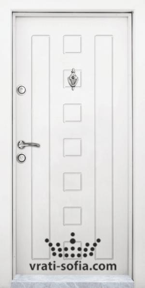 Блиндирана врата T 712, цвят Бял