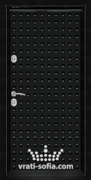 Блиндирана входна врата T 777, цвят Черен