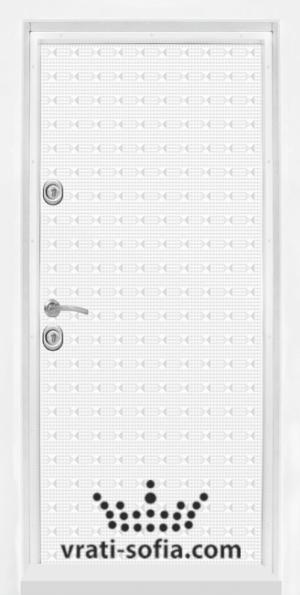 Блиндирана входна врата T 777, цвят Бял