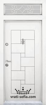 Еднокрилна входна врата Т 100, цвят Бяла