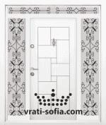 Еднокрила входна врата Т-100, цвят Бял