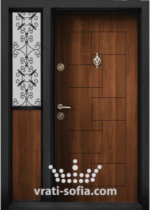 Еднокрилна входна врата Т 100, цвят Златен дъб
