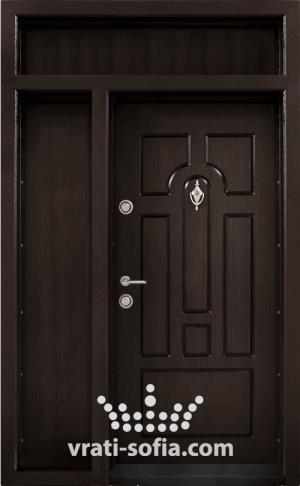 Еднокрилна входна врата Т 108, цвят Тъмен орех