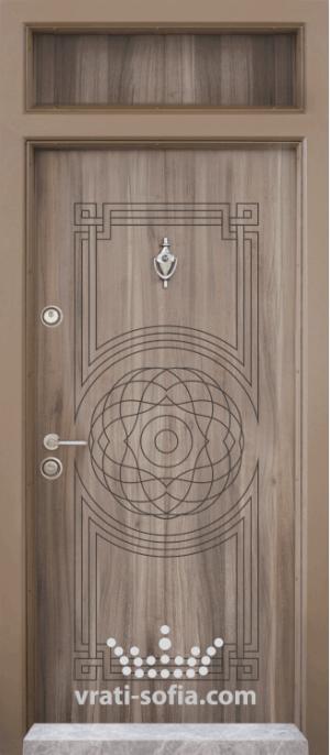 Еднокрилна входна врата Т 110, цвят Спарта