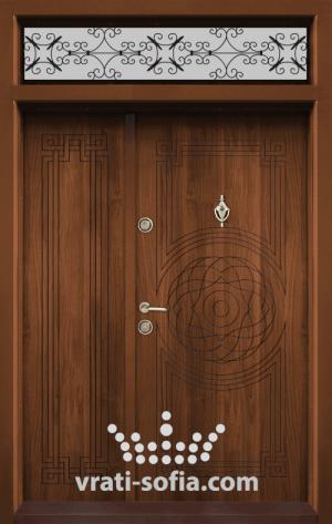 Еднокрилна входна врата Т 110, цвят Златен дъб