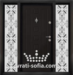 Еднокрилна входна врата Т 712, цвят Африка