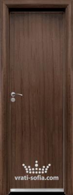 Алуминиева врата за баня Standart, цвят Орех