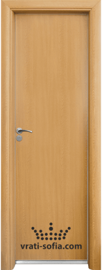 Алуминиева врата за баня Standart, цвят Светъл дъб